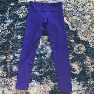 Lululemon purple wunder under leggings 4